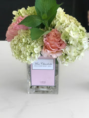 "Personalised Glass Vase ""Pastel Edition"" (Available Worldwide)"