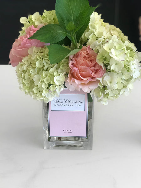 "PRE-ORDER Personalised Glass Vase ""Pastel Edition"""