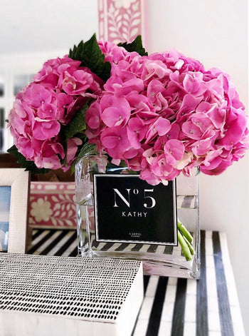 "PRE-ORDER JUNE Personalised Glass Vase - ""No. Edition"" (Available Worldwide)"