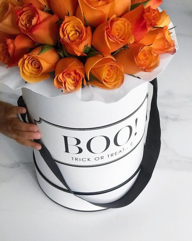 ORANGE FRESH BLOOMS White Box (VIC, Australia Only)