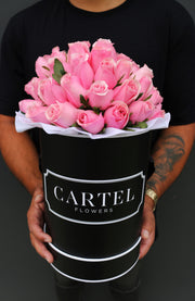 PINK FRESH BLOOMS Black Box (VIC, Australia Only)