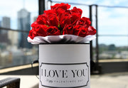 RED FRESH BLOOMS White Box (VIC, Australia Only)