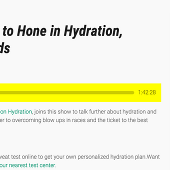 Andy talks all things hydration on the Endurance Planet podcast