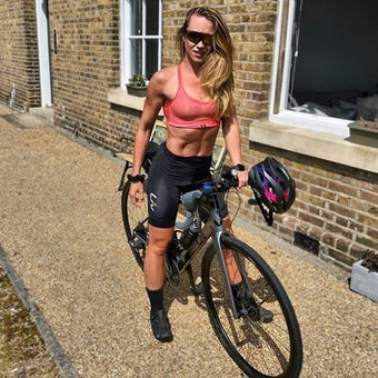 Sophie Grace Holmes on a bike