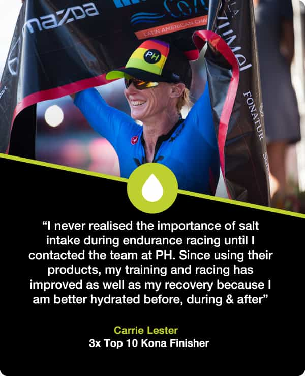 Carrie Lester electrolyte supplements