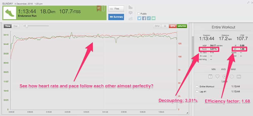 Using heart race and pace data to be more efficient