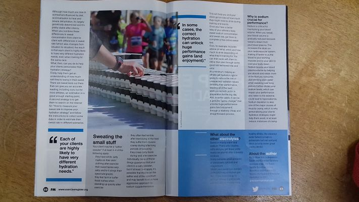 Exercise Register Magazine Precision Hydration feature