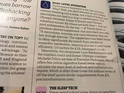 Sunday Times Review of Precision Hydration