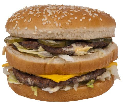 Is a big mac as effective as an energy gel?