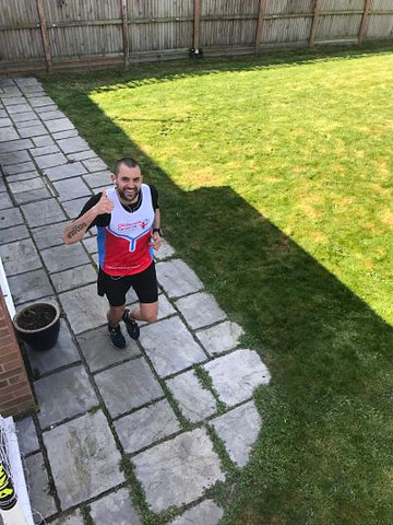 James Page running in his garden