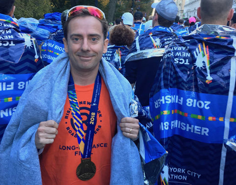 Marc Casals after New York marathon cramp free!