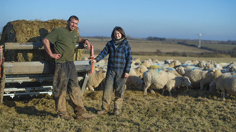 Matt Smith Sheep shearing world record and his wife Pip on their farm