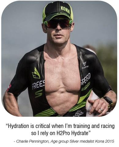 Charlie Pennington suggests hydration is critical when racing