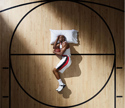 Basketball Player Asleep