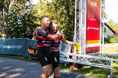 Andy and JP at end of Swimrun World Championships