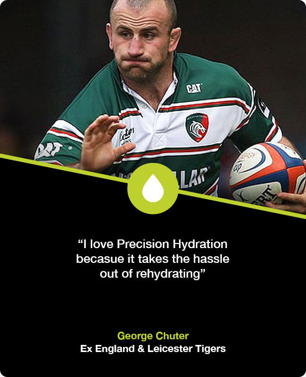George Chuter rugby hydration