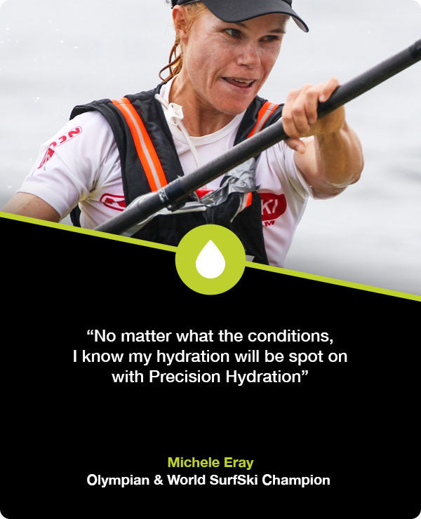 Michele Eray hydration for paddling