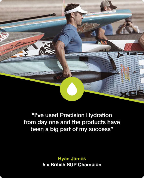 Ryan James hydration for SUP