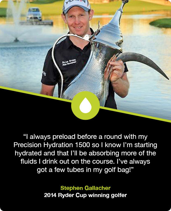 Stephen Gallacher hydration strategy for golf