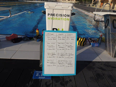 PH water cooler by the pool at training camp
