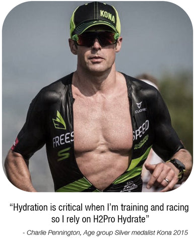Team Freespeed's Charlie Pennington uses Precision Hydration to stay hydrated.