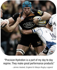 England Rugby star James Haskell has a Precision Hydration strategy.
