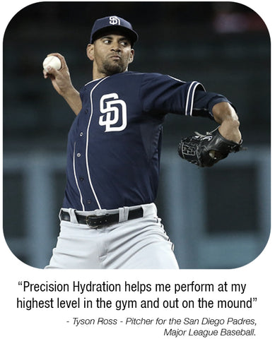Tyson Ross uses Precision Hydration to stay hydrated when it counts.
