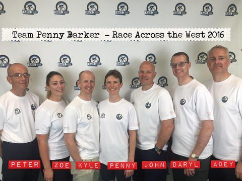 Penny Barker and her support team for the RAAM