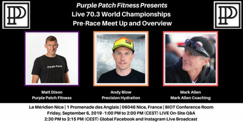 Purple Patch Fitness Live 70.3 World Championships meet-up