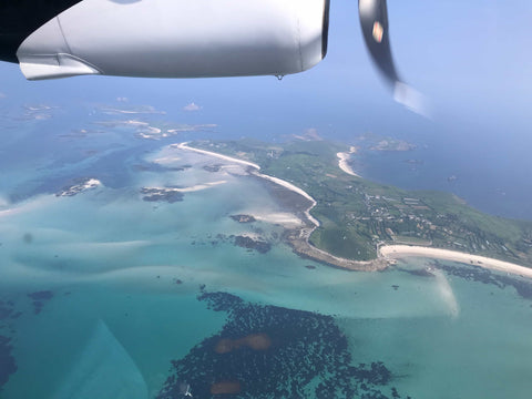 Scilly Isles from plane