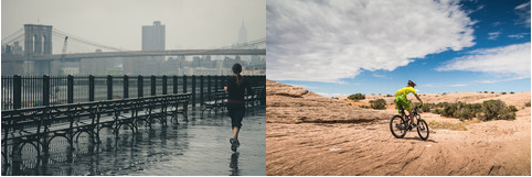 There's a big difference if you're training in rainy NYC in winter v in the desert at the height of summer!