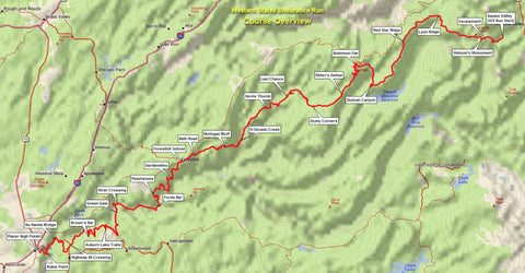 Western States Endurance Run course map