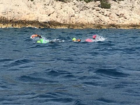 Ben and Rhian Martin Swimming at OtillO Hvar