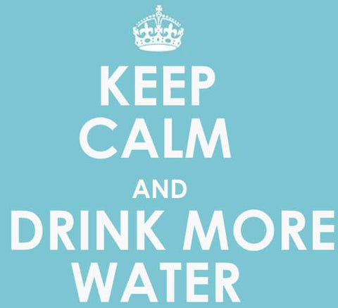 keep calm drink more water