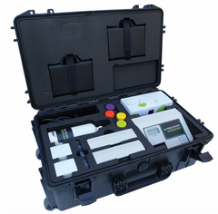 Our patented Sweat Testing kit comes in a travel friendly box.