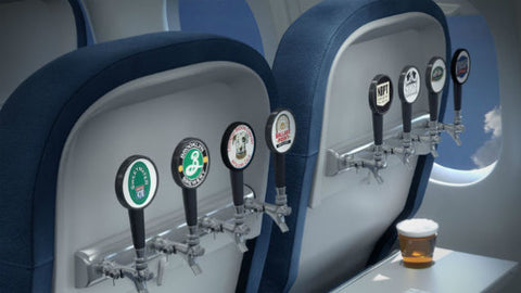 Avoid beer on a flight to stay hydrated