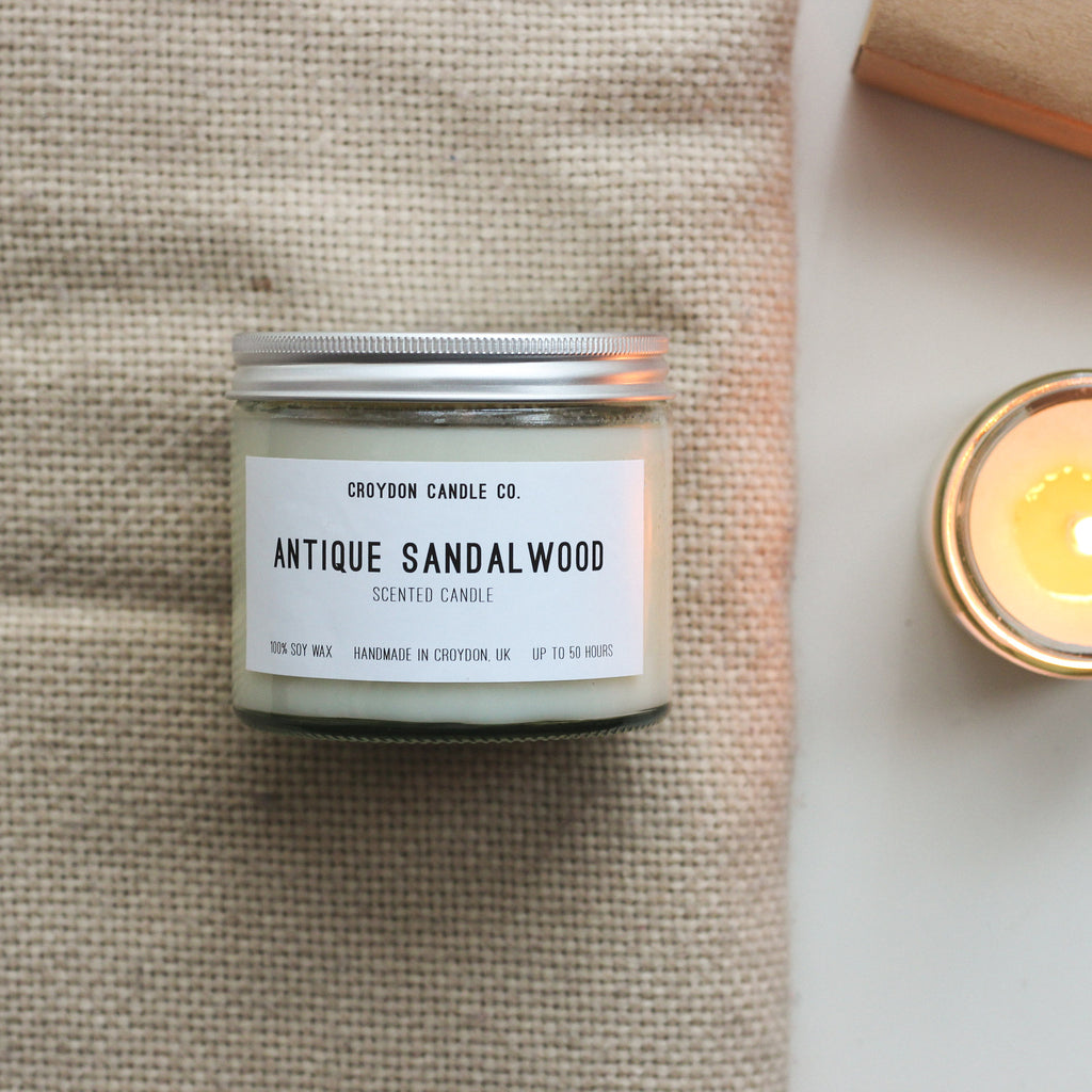 Antique Sandalwood Scented Soy Candle