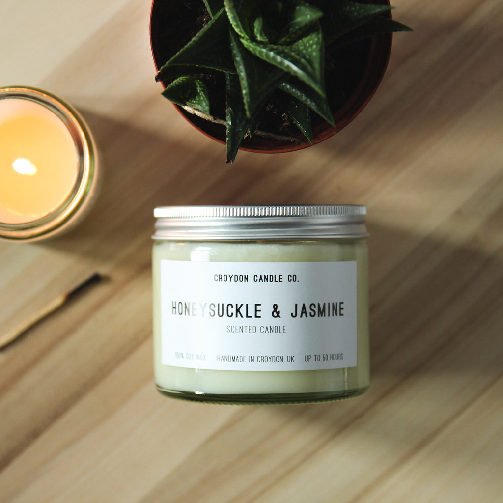Honeysuckle & Jasmine Scented Soy Candle