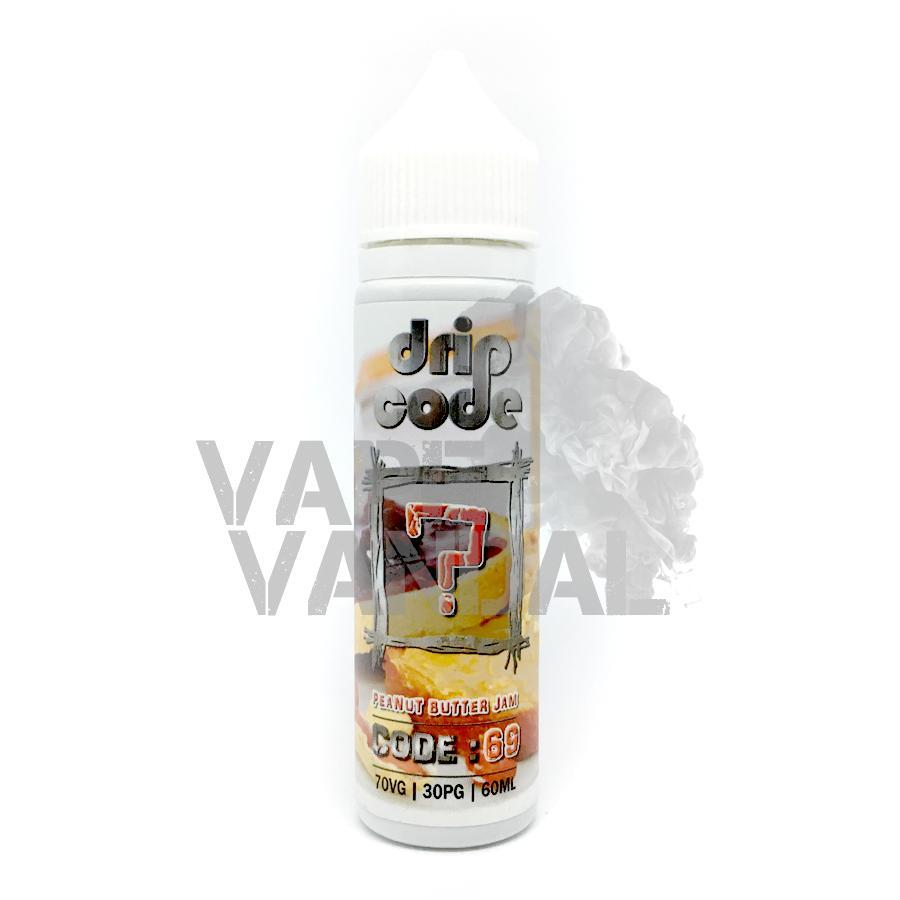 Drip Code Local E-Juice 3mg Drip Code - 69 (Peanut Butter Jam) (Creamy Series)