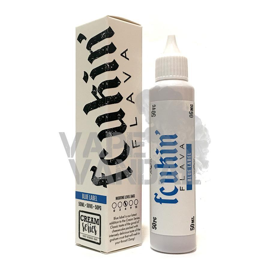 Fcukin Flava Local E-Juice 12mg Fcukin' Flava - Blue Label (Cheesecake Graham) (Cream Series)