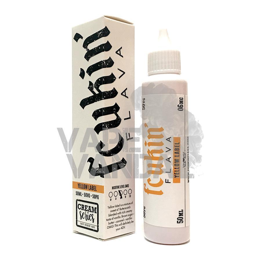 Fcukin' Flava - Yellow Label (Butterscotch Vanilla) (Cream Series) - Vape Vandal - Malaysia's #1 vape e-juice store