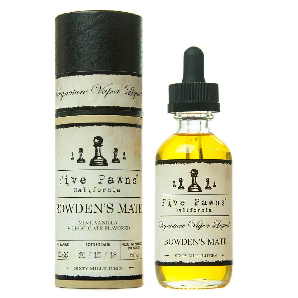 Five Pawns Imported E-Juice (US) 6mg Five Pawns (US) - Bowden's Mate
