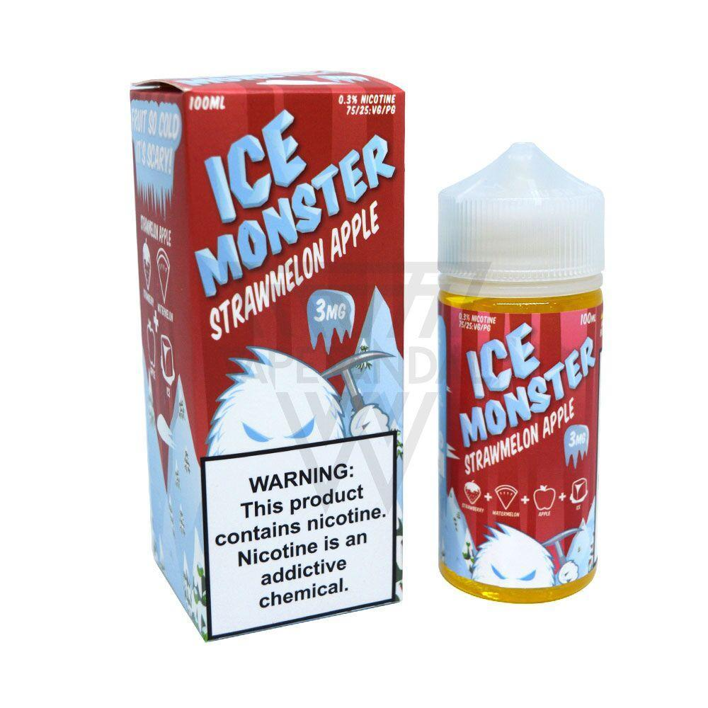 Ice Monster Imported E-Juice (US) 3mg Ice Monster - Strawmelon Apple