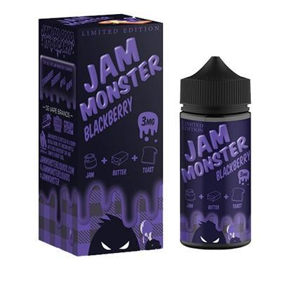 Jam Monster Imported E-Juice (US) 3mg Jam Monster - Blackberry (Limited Edition)