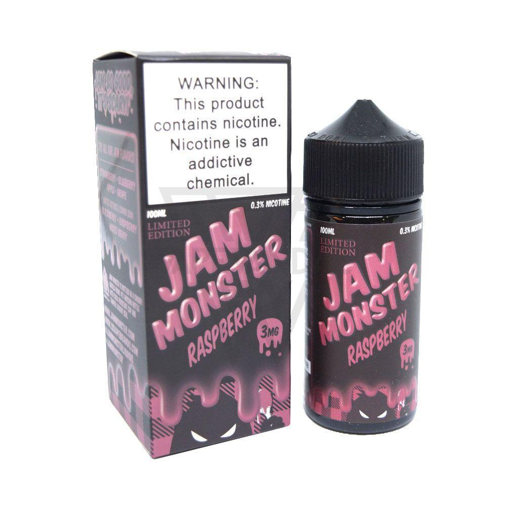 Jam Monster Imported E-Juice (US) 3mg Jam Monster - Raspberry (Limited Edition)