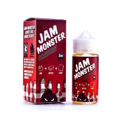 Jam Monster Imported E-Juice (US) 3mg Jam Monster - Strawberry