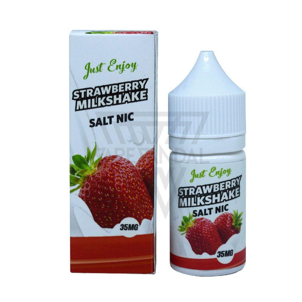 Just Enjoy - Strawberry Milkshake Salt Nicotine - Vape Vandal - Malaysia's #1 vape e-juice store