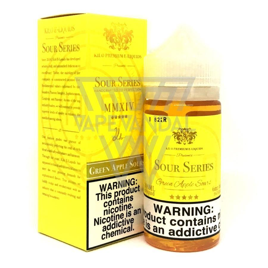 Kilo Imported E-Juice (US) 6mg Kilo - Green Apple Sours (Sour Series)