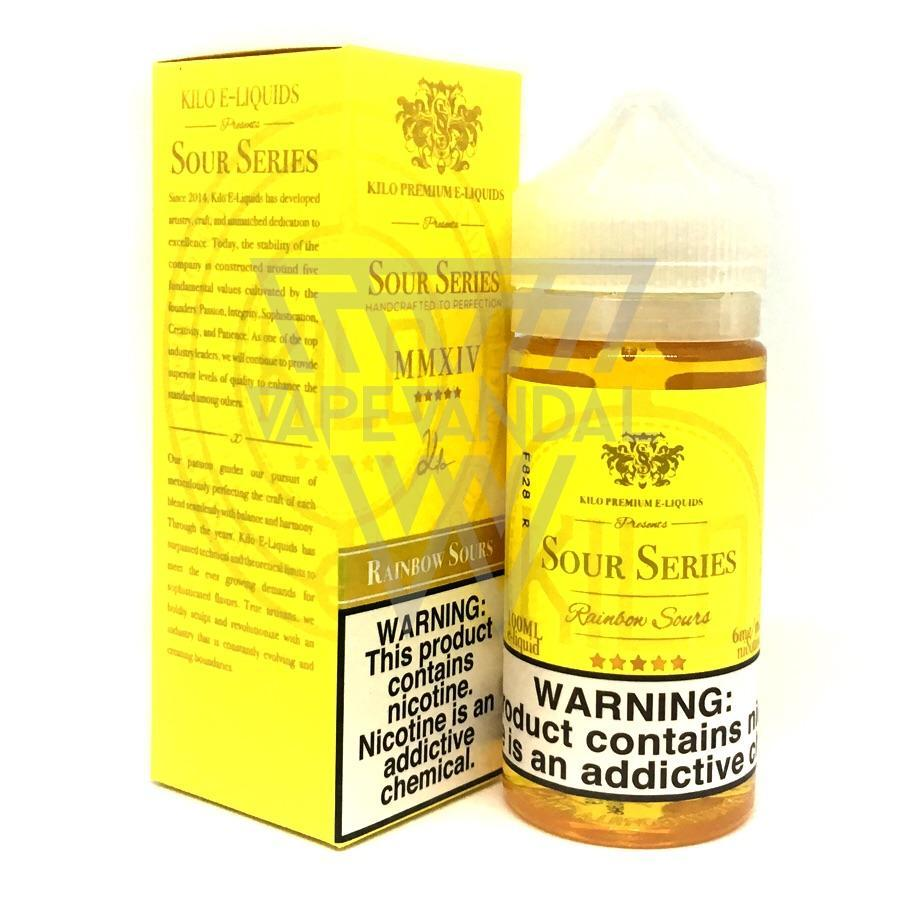 Kilo Imported E-Juice (US) 6mg Kilo - Rainbow Sours (Sour Series)