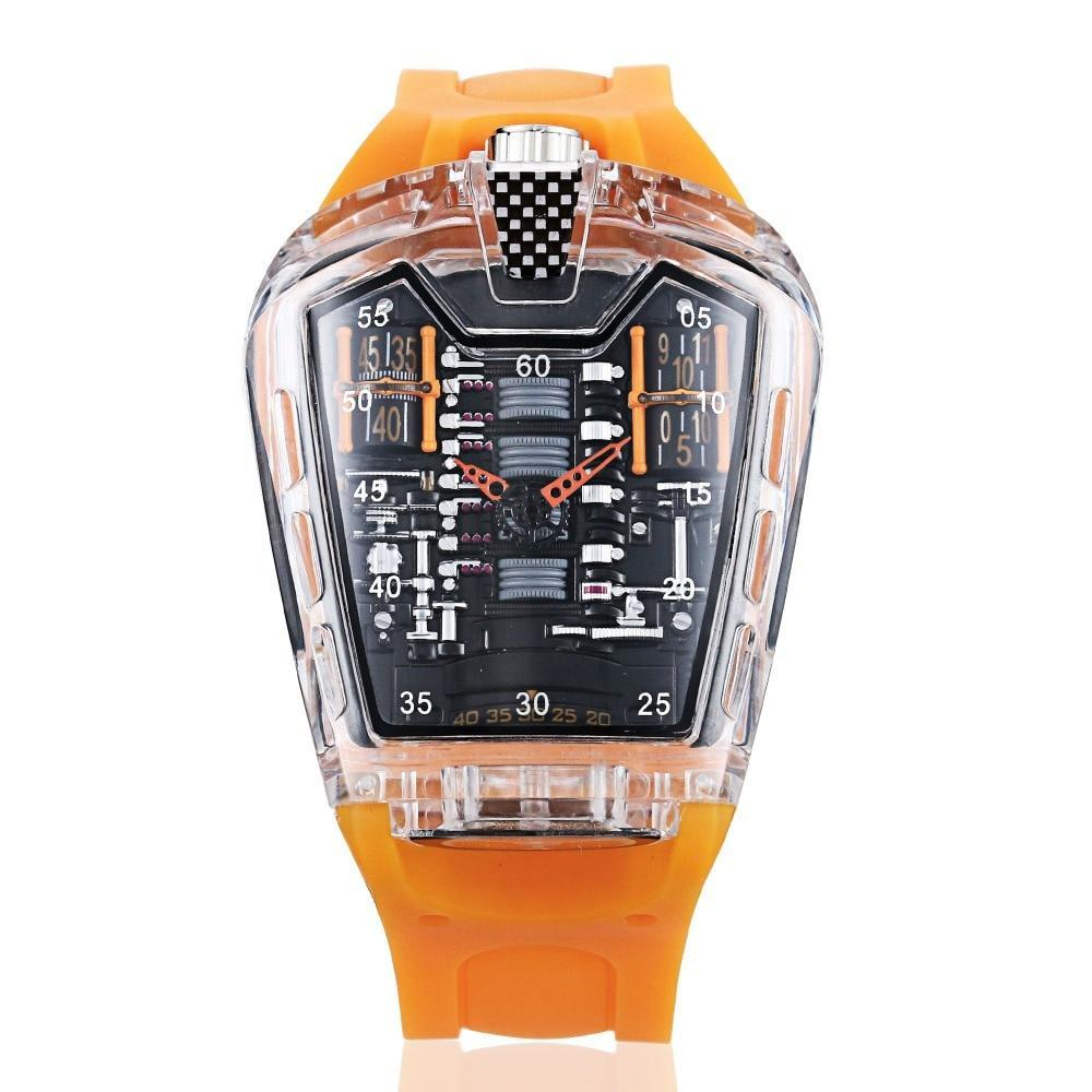Racing Transparent Silicon Strap Men's Watch (FREE SHIPPING) - Vape Vandal - Malaysia's #1 vape e-juice store